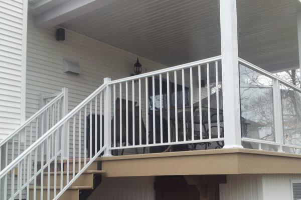 Balcon, rampes, garde-corps et colonnes